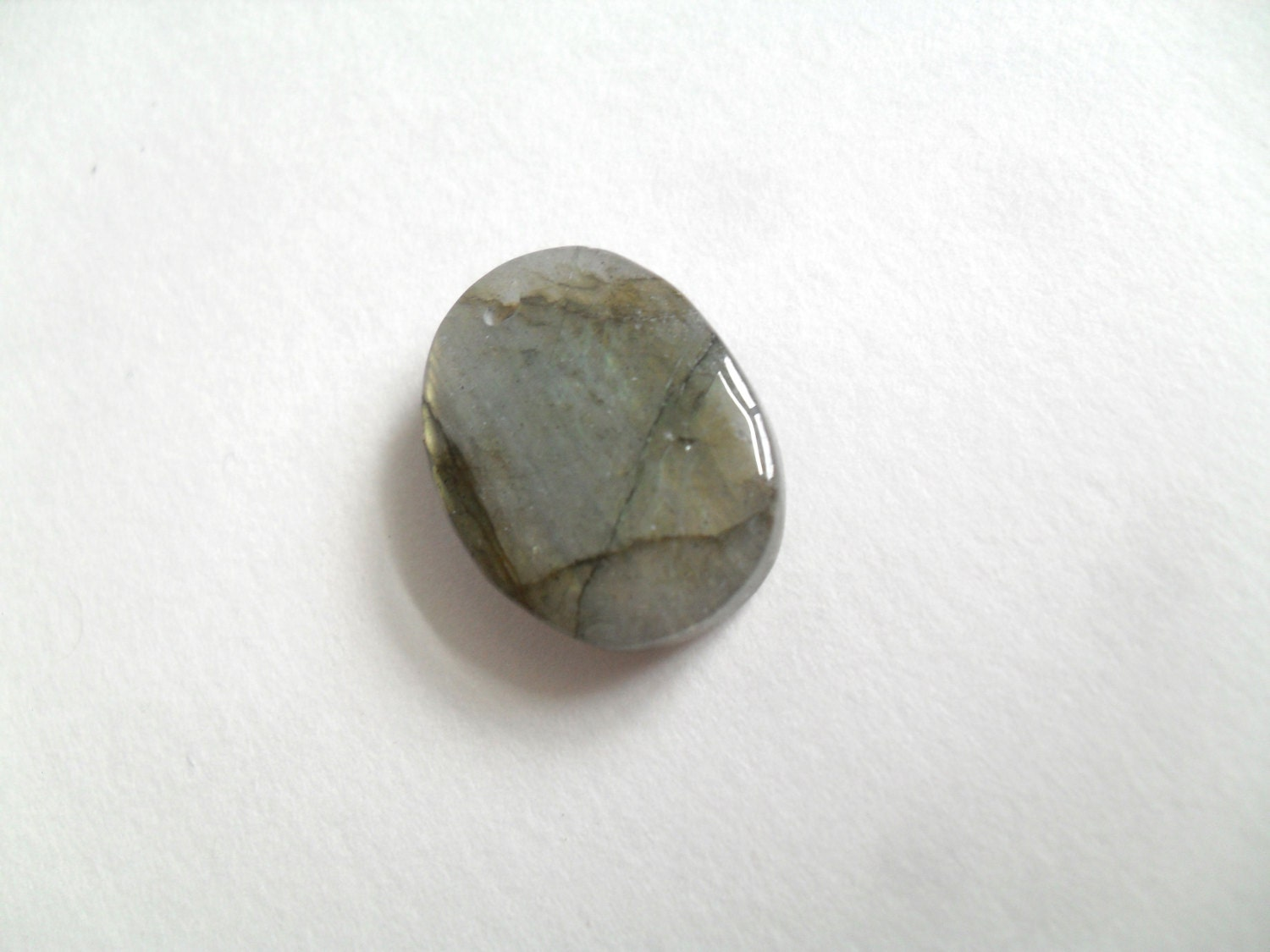Labradorite Pendant, Small Oval Gemstone Pendant Bead from ...