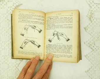 Antique French Book on Sewing Crafts / French Embroidery / Craft Supplies / Haberdashery / French Country Decor /Retro Vintage Home Interior