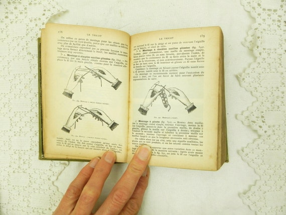Antique French Sewing Crafts Book Embroidery Needle Work Tapestry, Knitting, Crochet, Macramé, Lace Making Craft Manuel, Country Decor