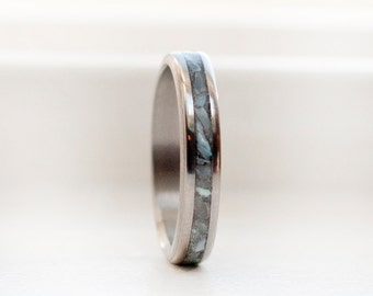 Womens Wedding Band Mens Wedding Band Mother of Pearl Stacking Ring