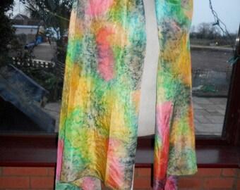 pure soft vintage silk large flowing dip dyed veil/wrap scarf bellydance veil