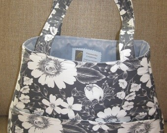 Grey and White Bag