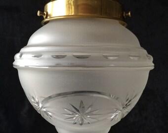 Original vintage frosted glass pendant