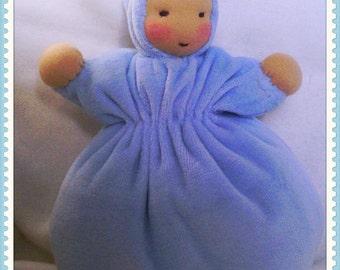 Waldorf style bunting baby