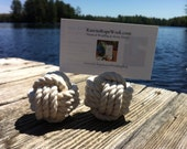 10 knot name card holders - great for weddings, anniversaries or dinner parties - nautical wedding decor