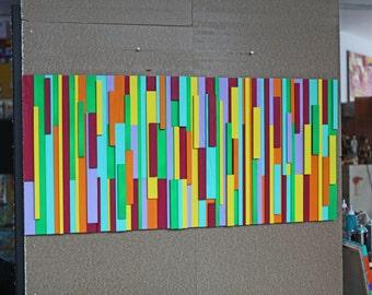 xxl abstrakt art painting acryl wood 120 x 60  cm  48 x 24  inch