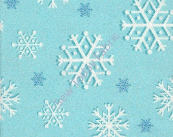 Snowfall Metallic Glitter Blizzard - Snowfall Collection - Michael Miller Fabrics CM2050-BLIZ-D (sold by the 1/2 yard)