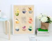 Tea is always good idea  -  18x24cm/art print / illustration /