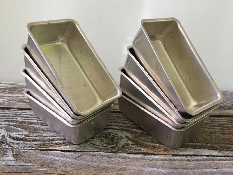 Vintage Set Of 8 Mini Loaf Baking Alunimum Pans