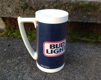 Vintage Thermo Serve Bud Light Beer Mug Collectors Breweriana