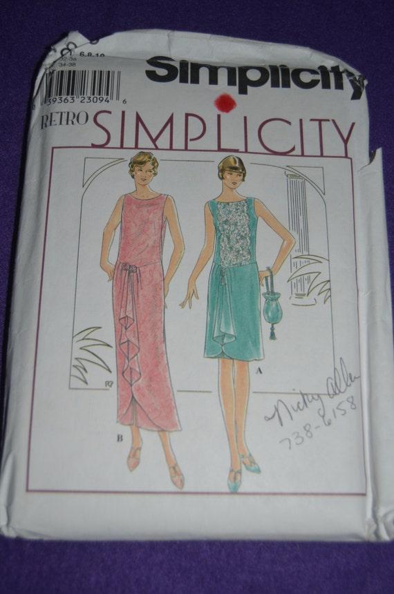 Simplicity 8776 Retro Simplicity 1920s FLAPPER STYLE Evening