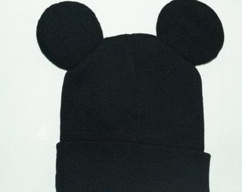 Mickey Mouse Ear Beanie Hat