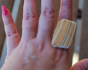 Adjustable Sea Shell Statement Ring