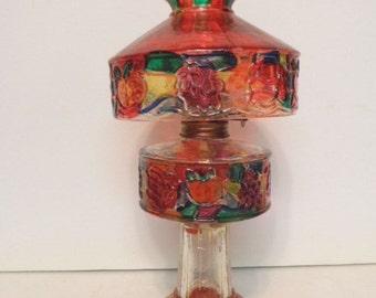 1960s Hong Kong Painted Mini Oil Lamp
