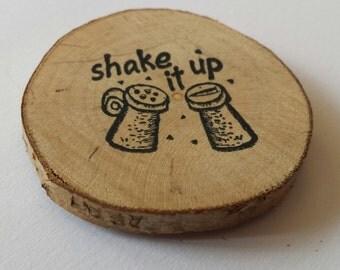 Shake it up kitchen themed fridge magnet, kitchen decor, refrigerator magnet, magnet, cook, chef