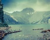 Snowmass Mountain Aspen Colorado Mountain Lake, Cabin Wall Art, Nature, Landscape, Teal Art, Cabin Decor