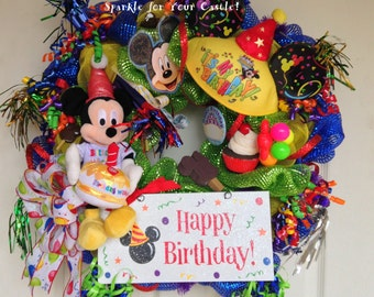Disney Happy Birthday Wreath Mickey Mouse