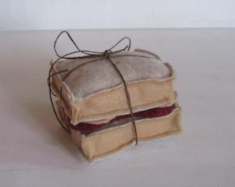 Felt Peanut Butter and Jam Sandwich