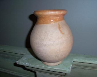 Vintage Rustic Stoneware Vase Hungary Primitive
