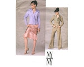 Vogue 2781 NY Collection Jacket Skirt Pants Size 8-10-12 Bust 31.5-32.5-324 2000 Style Pattern Uncut