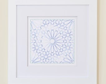Embroidered Moroccan Pattern - Islamic Geometric Star Art