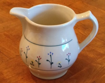Hartstone Pottery Floral  Pitcher
