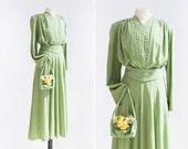 40s Summer May Dress  •  1940s rayon dress