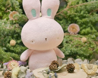 Baby Pink Bunny Whispers plush with beanbag inside