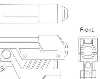Zero Suit Samus Paralyzer Blueprint