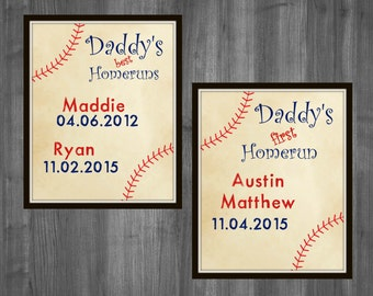 fathers day gift fathers day baseball gift first fathers day gift custom personalized fathers day grandparents day printable decor