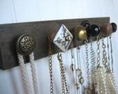 Jewelry Display with Neutral Knobs / Necklace Rack / Jewelry Organizer