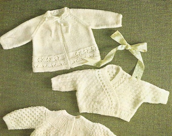 Vintage Knitting Patterns For Babies : Raglan cardigan Etsy