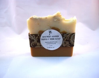 Smoked Amber Cold Process Handmade Triple C Brewing Co Beer Soap - All Natural