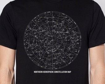 Constellation Shirt Constellation Map Science Shirt Astronomy Shirt Outer Space Shirt Unique Mens Science TShirt Stars TShirt Stars Shirt