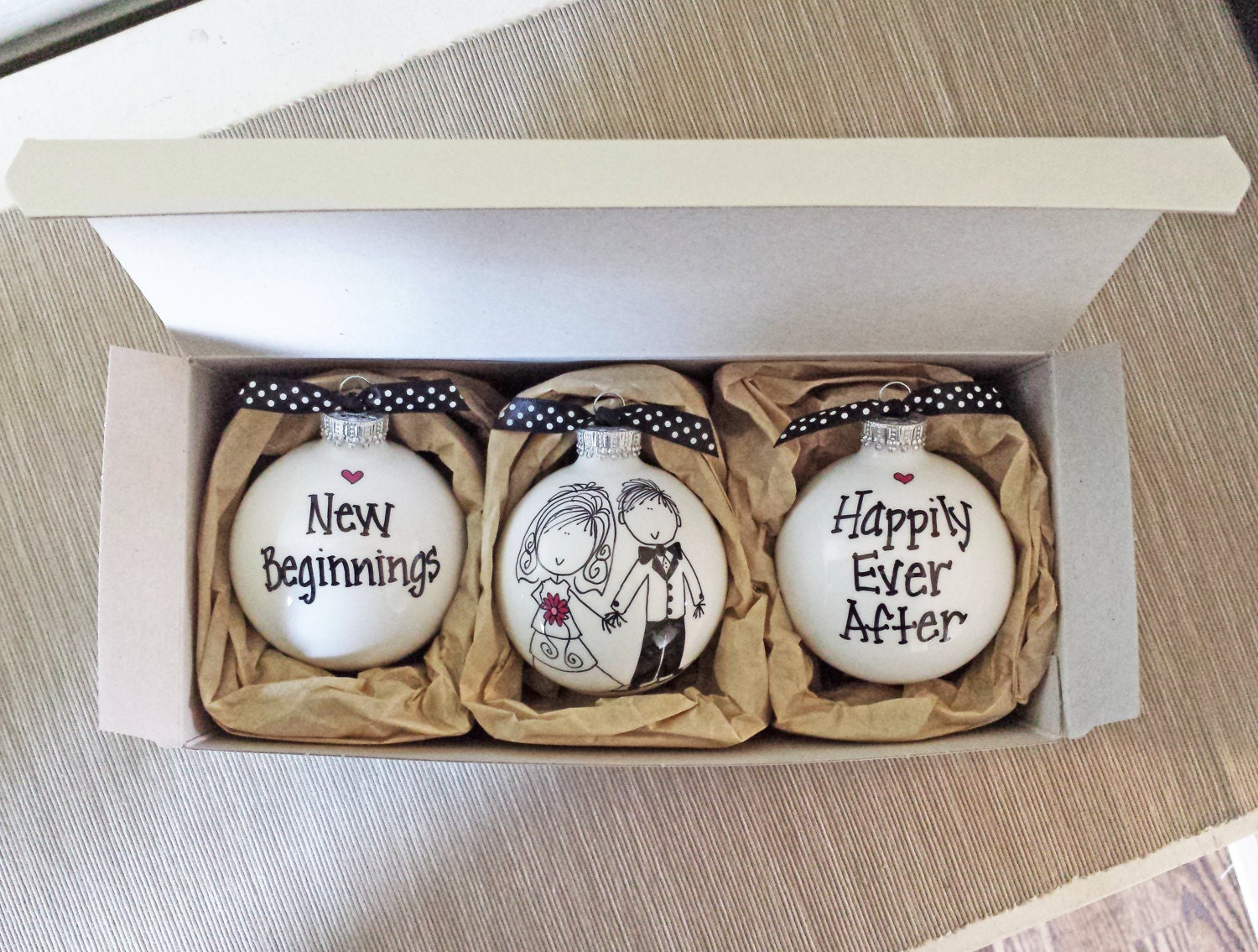 Wedding Gift For A Couple: Wedding Gift Wedding Ornaments Wedding Gift Set