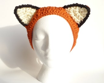 Crochet Earwarmer Pattern CROCHET PATTERN Ear Warmer Headband Animal Hat Animal Ears Animal Ear Headband Animal Ear Hat Spring Headband Cute