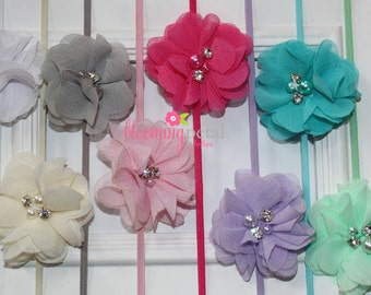 Petite Chiffon Flower Newborn Infant Headband