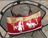 Very Cute Red Riding Hood Tote - Large, OOAK Fairy Tale bag