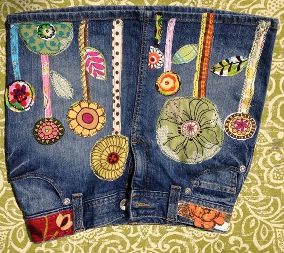 Hippie Jean Skirt 107