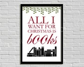 Printable: All I want for Christmas is books