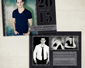 Senior Graduation Announcement Template for Photographers 002 - ID088, Instant Download