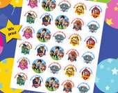 30 ct Paw Patrol personalized stickers birthday party favor tags labels cupcake toppers decoration