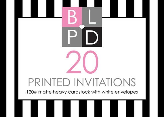 """Printing Service - 20 - 5"""" x 7"""" Prints - 120 lb. Cardstock"""