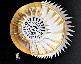 2nd Sun, 3D paper art