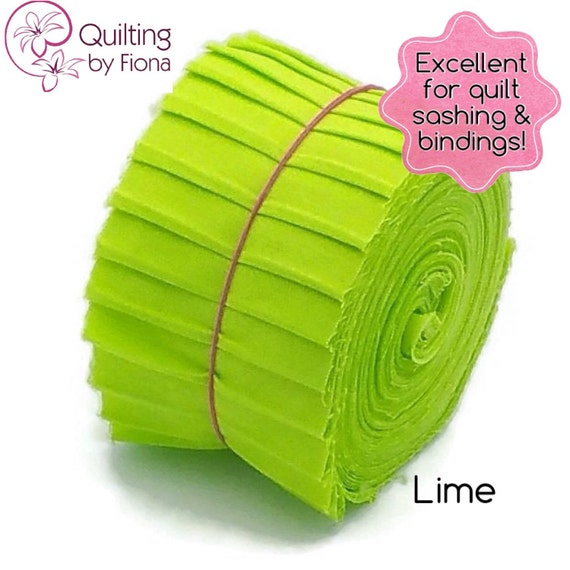 Lime Green PreCut Quilt Binding Fabric Strips 2.25 Inch