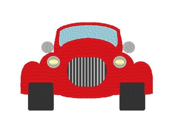 Hot Rod Car Embroidery Machine Design