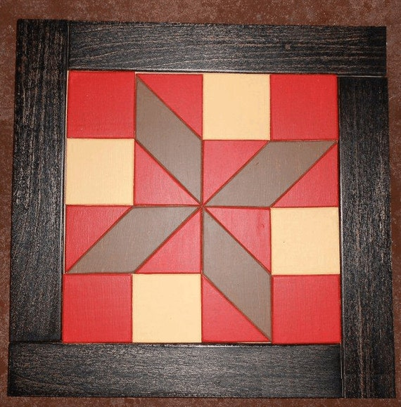 Items similar to Painted Quilt Design Wooden wall hanging on Etsy