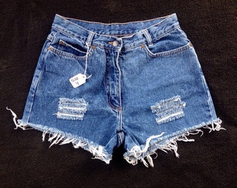 High Waisted Distressed Shorts size 4 (26)