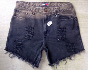 High Waisted Distressed Shorts size 16