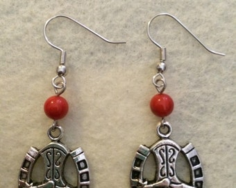 Cowboy Boot Horseshoe earrings